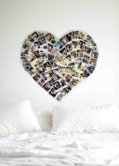 Коллаж из фото в форме сердца