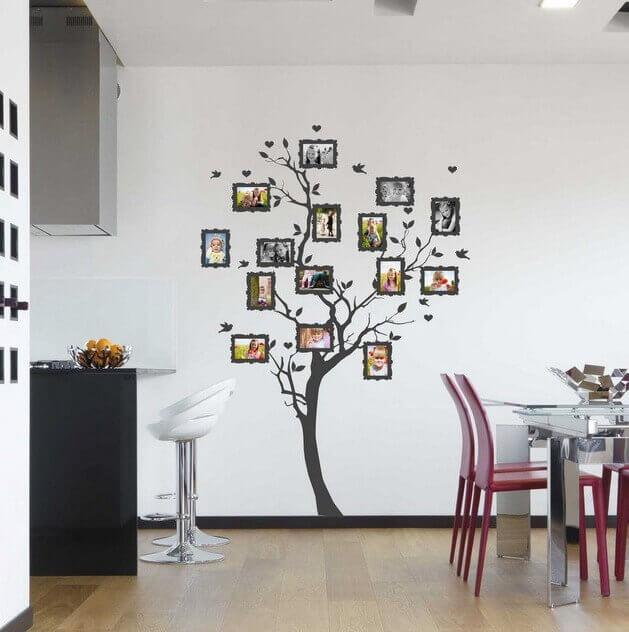 Фотоколлаж в форме дерева