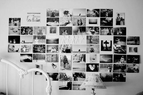 Черно-белый фотоколлаж