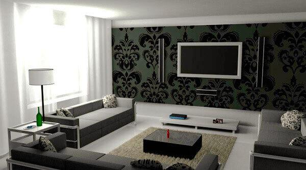 20 современных интерьеров гостиной в чёрно белом цвете