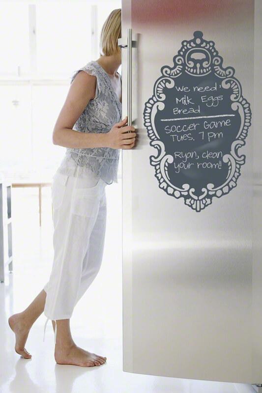 Магнитная доска на холодильник для записей мелом со списком покупок