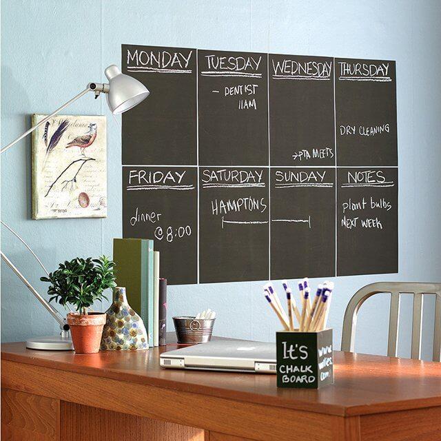 Практичный ежедневник на меловой доске