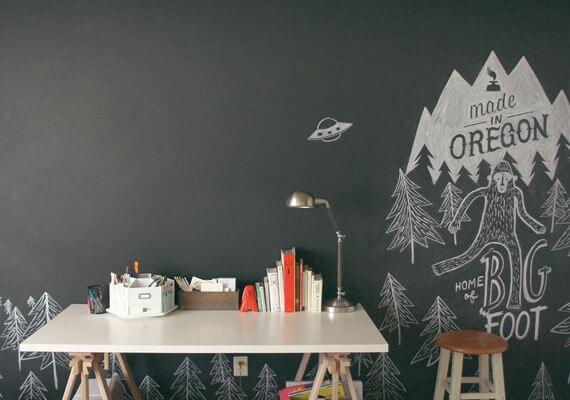Офисная меловая доска для творчества и дел