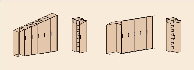 Использование модификации серийных модулей для создания шкафов в мансарду.